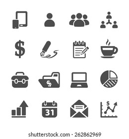 business concept icon set 2, vector eps10.