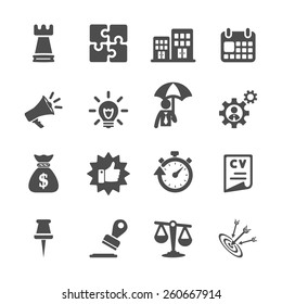 business concept icon set, vector eps10.