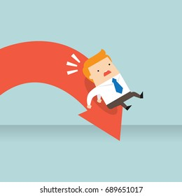 Business concept illustration of a business downfall