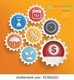 Business concept infographic design,clean vector