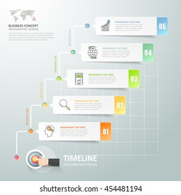 Business concept infographic template can be used for workflow layout, diagram, number options,