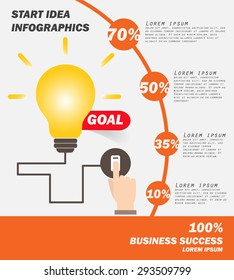 Business Concept , Infographics ,Vector Illustration