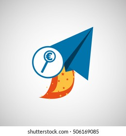 business concept. money euro start up graphic vector illustration