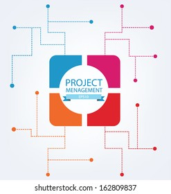 Business concept. Project management. vector illustration.