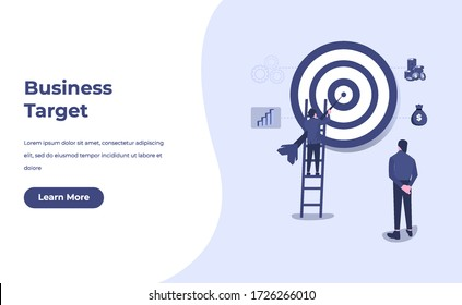 business concept with stair, laptop and tiny people. direction to success. Finance growth vision, winner victory achievement award and personal career development flat style vector illustration