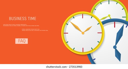 Business concept for time management. Time is money.