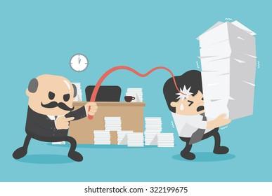 Business concept  Work like slaves