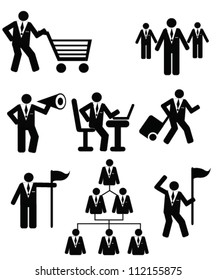 Business concept,resource,person style,icon set,Vector