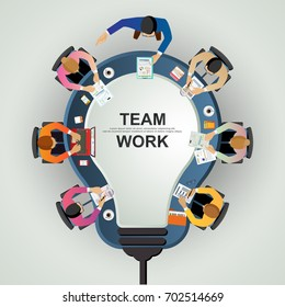 Business concepts for analysis and planning, teamwork consulting, project management, financial reporting and strategy. Vector illustration.
