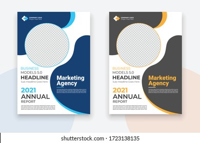 Business Conference brochure flyer design layout template in A4 size, with nice background, vector eps10