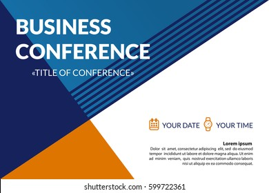 Corporate invitation images stock photos vectors shutterstock business conference invitation concept colorful simple geometric background template for banner poster stopboris Gallery