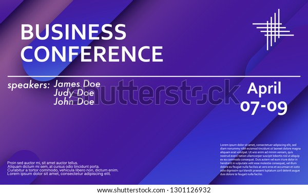 Business Conference Invitation Design Template Flyer Stock