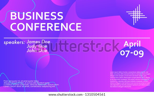 Business Conference Invitation Design Template Flyer Stock Vector ...