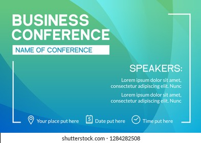 Business conference simple template invitation. Geometric magazine conference or poster business meeting design banner.