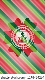 business congress icon inside christmas emblem background.