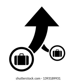 Business consolidation icon, company acquire icon, vector illustration.
