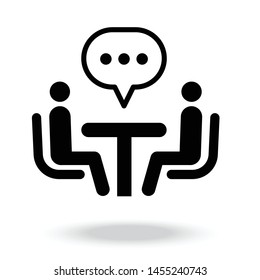 Business Consulting Icon vector.business discussion.