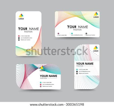 Business Contact Card Template Design Name Stock Vector Royalty