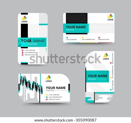 business contact card template design flyer stock vector royalty