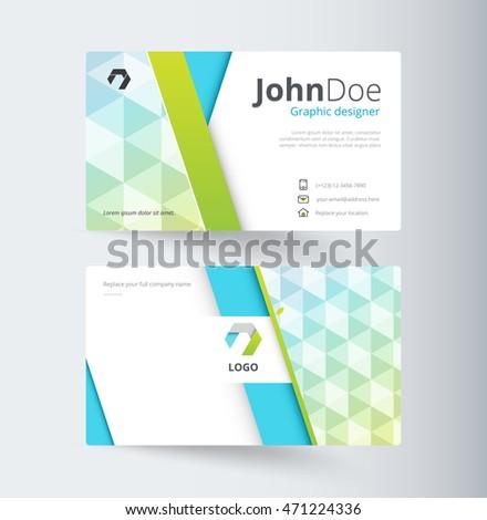 Business Contact Card Template Design Vector Stock Vector Royalty