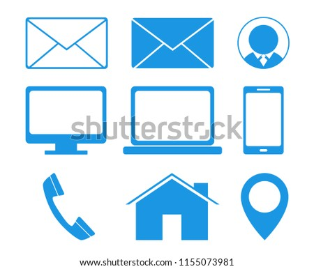 Business Contact Icons Vector Business Cards Image Vectorielle De