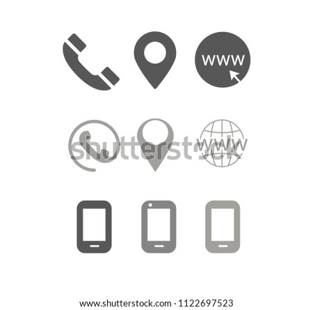 Business Contacts Icons Business Cards Stock Vector Royalty Free