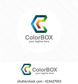 Business corporate letter C logo design vector. Colorful letter C logo vector template. Letter C logo for technology.