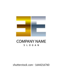 Business corporate letter EE logo design template. simple and clean flat design of letter EE logo vector template. letter EE logo for business.
