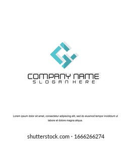 Business corporate letter G logo design template. Simple and clean flat design of letter  G logo vector template. Letter G logo for business