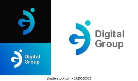 Business corporate letter GD logo design vector. Colorful letter GD logo vector template. Letter D logo for technology.