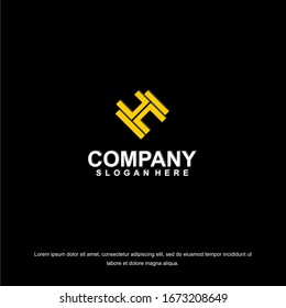 Business corporate letter H logo design template. Simple and clean flat design of letter H logo vector template. Letter H logo for business