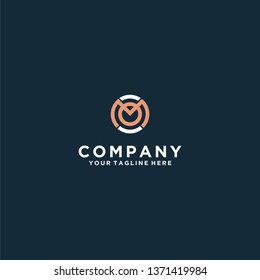 Business corporate letter MO logo design template. simple and clean flat design of letter MO logo vector template. letter MO logo for business.