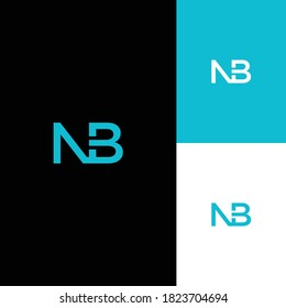 Business corporate letter NB logo design template. simple and clean flat design of the letter NB logo vector template. letter NB logo for business.