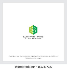 Business corporate letter S logo design template. Simple and clean flat design of letter S logo vector template.