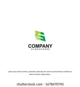 Business corporate letter S logo design template. Simple and clean flat design of letter S logo vector template. Letter S logo for business