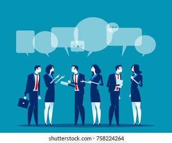 Business corporate meeting. Concept business vector illustration.