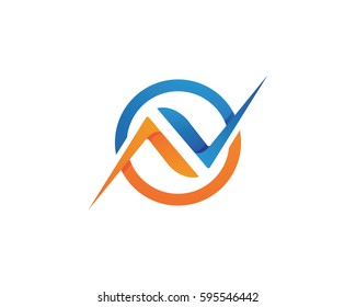 Business corporate N letter logo design vector
