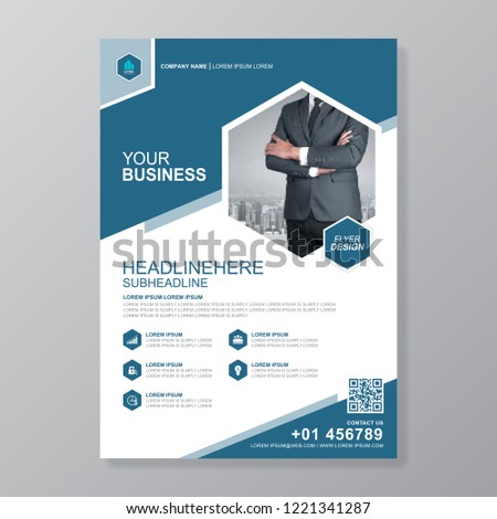 Business Cover A 4 Template Report Brochure Stock Vector Royalty