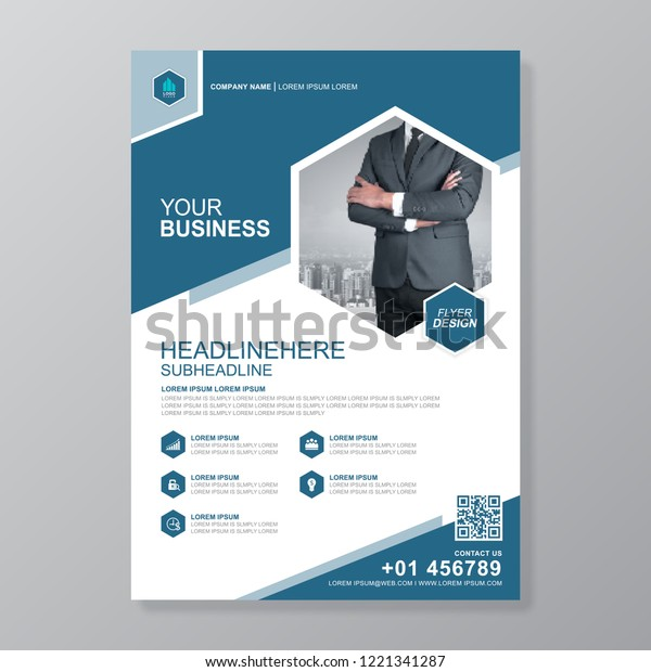 Business Cover A4 Template Report Brochure Stock Vector (Royalty