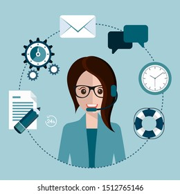 Business customer care service concept. Flat icons set of contact us, support help desk, phone call and website click for info graphics design web elements. Vector illustration
