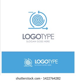 Business, Cycles, Iteration, Management, Product Blue outLine Logo with place for tagline