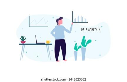 Business Data Analysis Illustration Vector