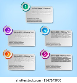 Business data infographic visualization for abstract background template. Eps10