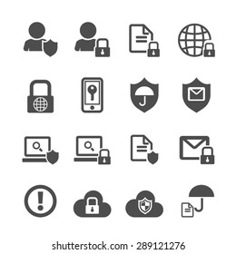 Business data protection technology icons set,Vector