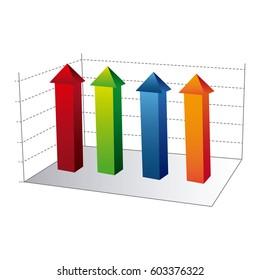 business data statistic graphic, vector illustration design