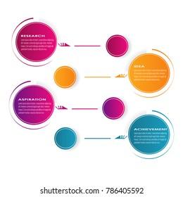 Business data visualization diagram chart data infographic element vector