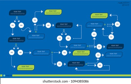 Business data visualization. Process chart. Algorithm flowchart of graph, diagram with steps, options, parts or processes. Vector business template for presentation. Creative concept for infographic.