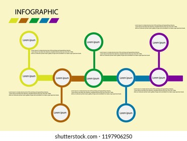 Business data visualization. Process chart. Abstract elements of graph, diagram with 4 and 5 steps, options, parts or processes. Vector business template for presentation. Creative concept for infogra