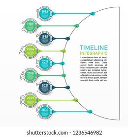 Business data visualization. Process chart. Abstract elements of raph, diagram with 9 steps, options, parts or processes. Vector outline timeline template.