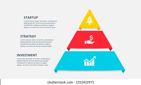 Business data visualization. Process chart. Abstract elements of graph, diagram with 3 steps, options, parts or processes. Vector business template for presentation. Creative concept for infographic.